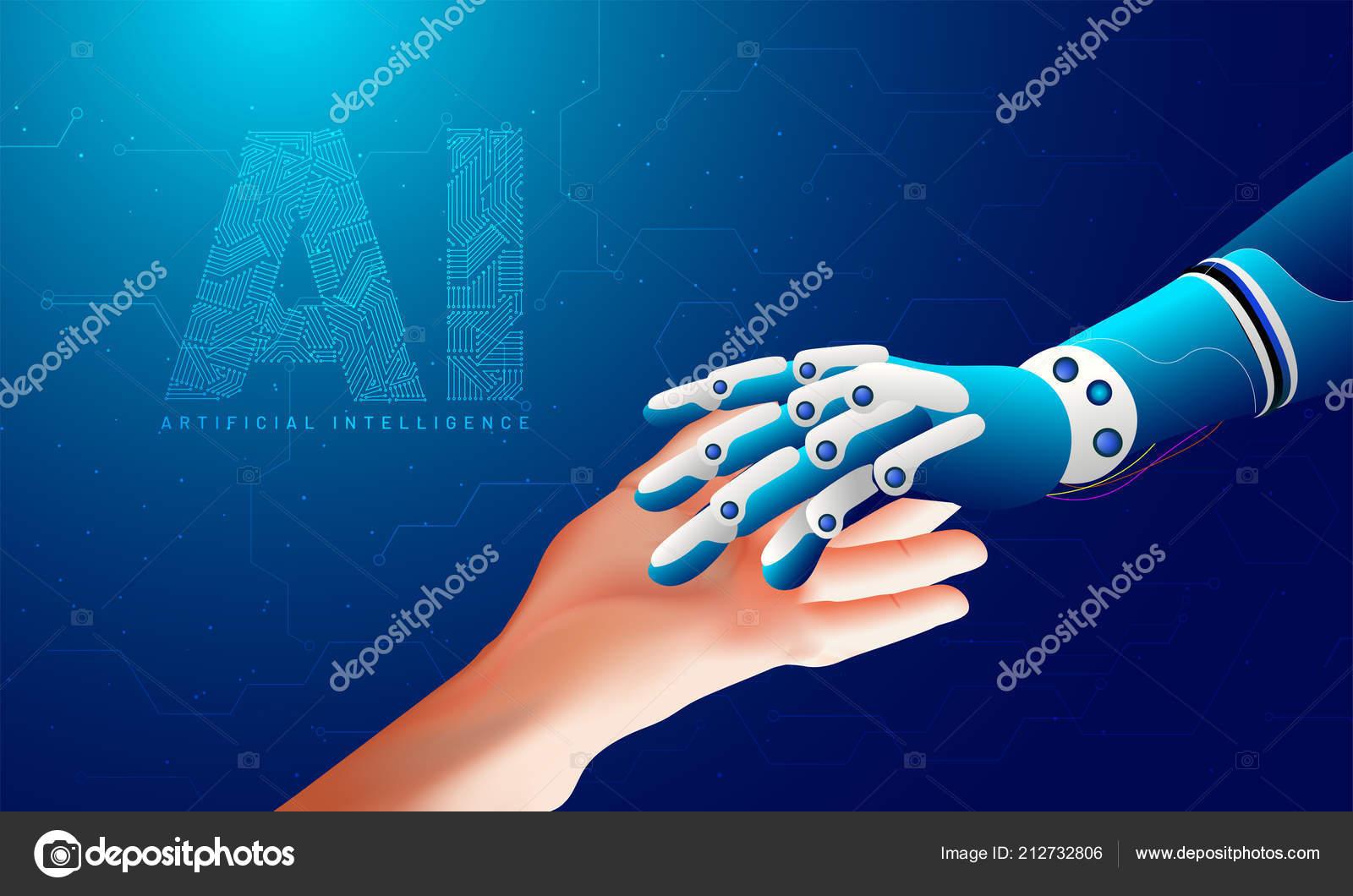Futuristic Concept Artificial Intelligence Virtual World Robotic
