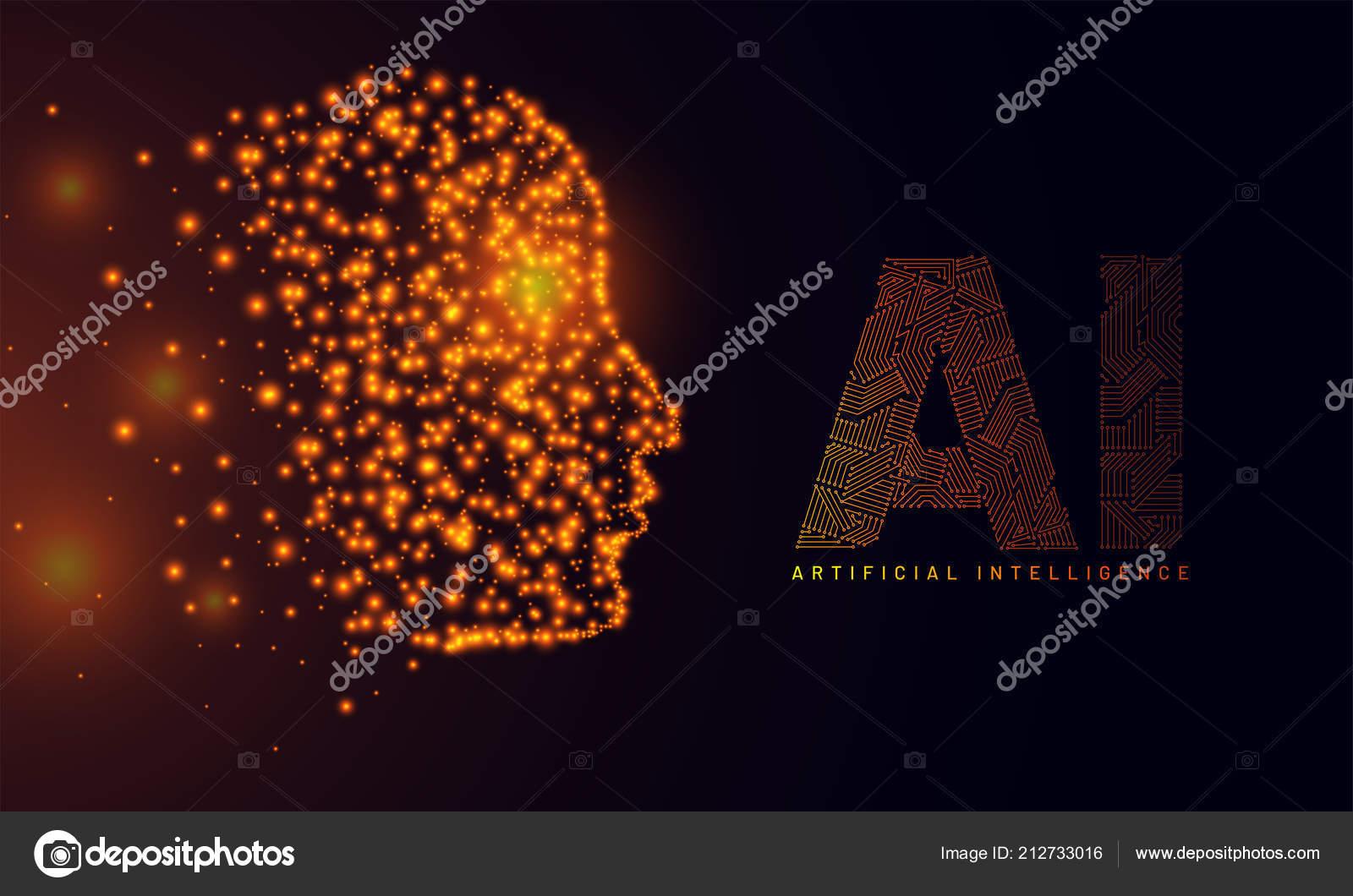 Website Hero Banner Design Illustration Human Face Made Glowing
