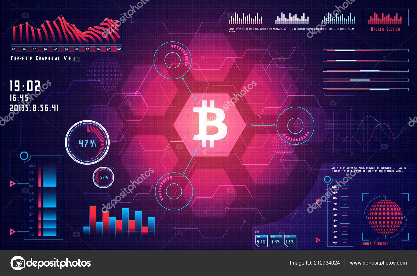 Head Display Bitcoin Trading Platform Cryptocurrency