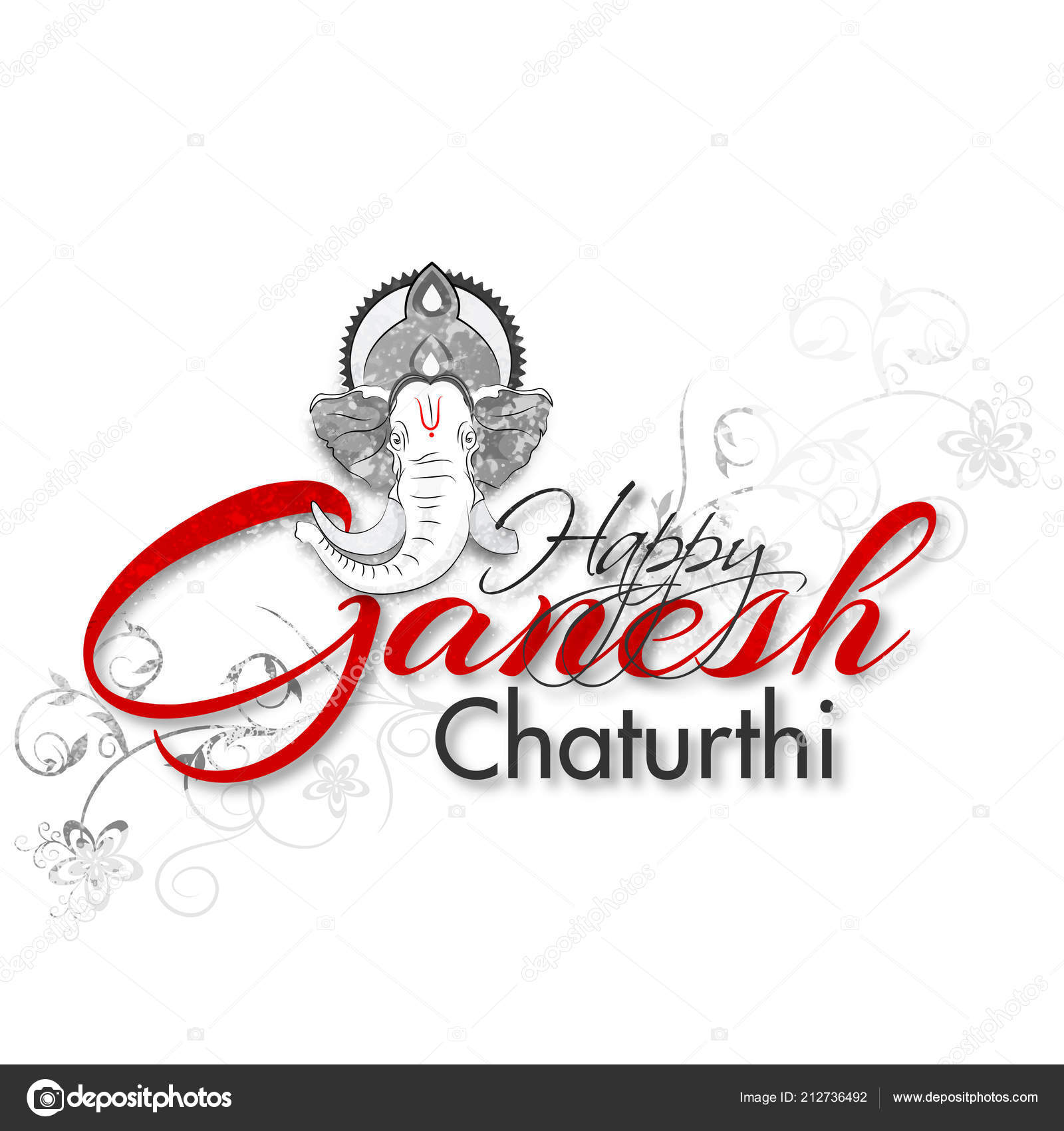 Happy ganesh chaturthi greeting card design doodle style lord happy ganesh chaturthi greeting card design doodle style lord ganesha stock vector m4hsunfo