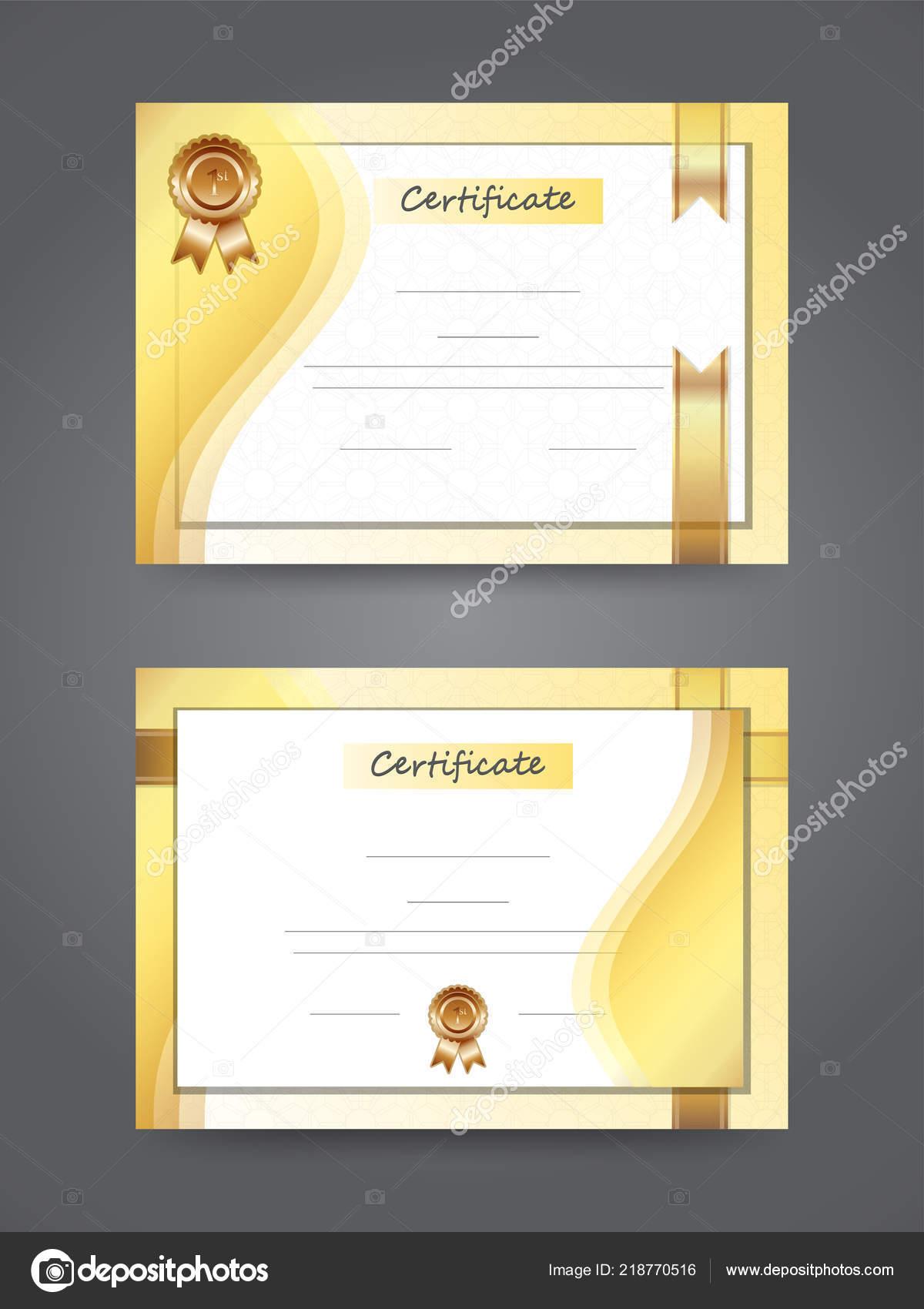 modèle certificat prix meilleur diplôme couleur brun doré — image
