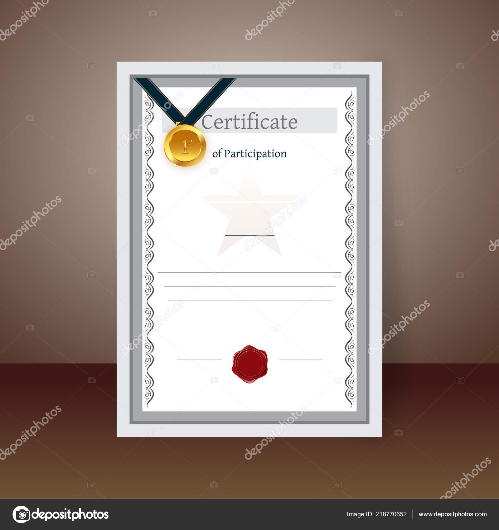 Modèle Vierge Conception Diplôme Certificat Participation