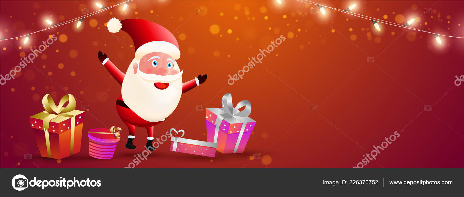 Merry Christmas Celebration Header Banner Design Santa Clause ...