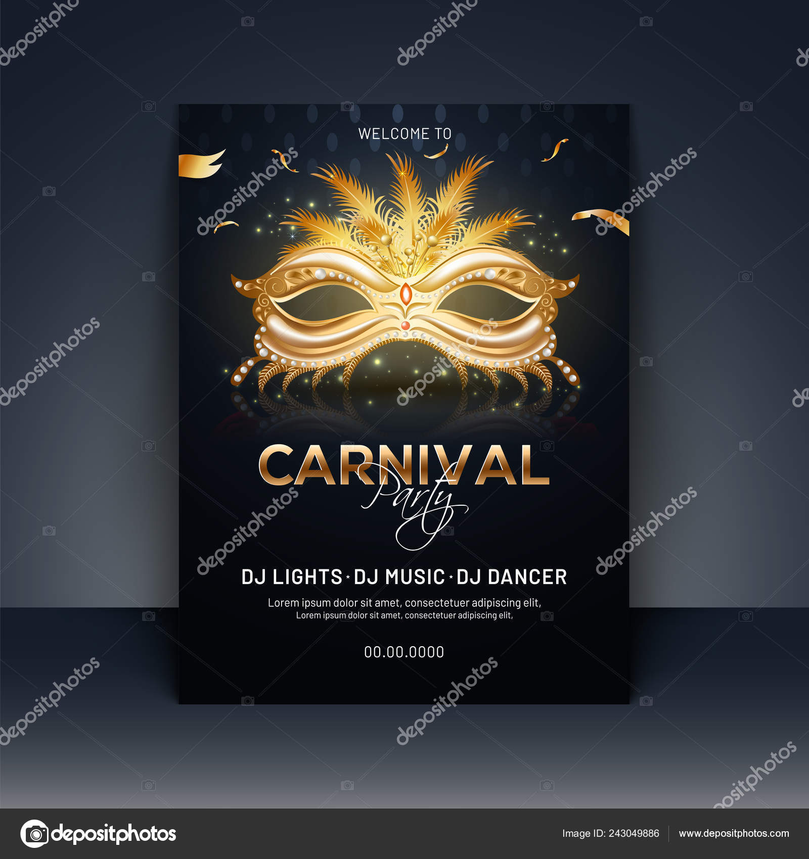 Carnival Theme Invite Template Carnival Party Template