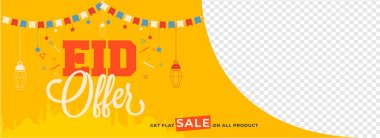 Eid Sale header or banner design with given space for your produ