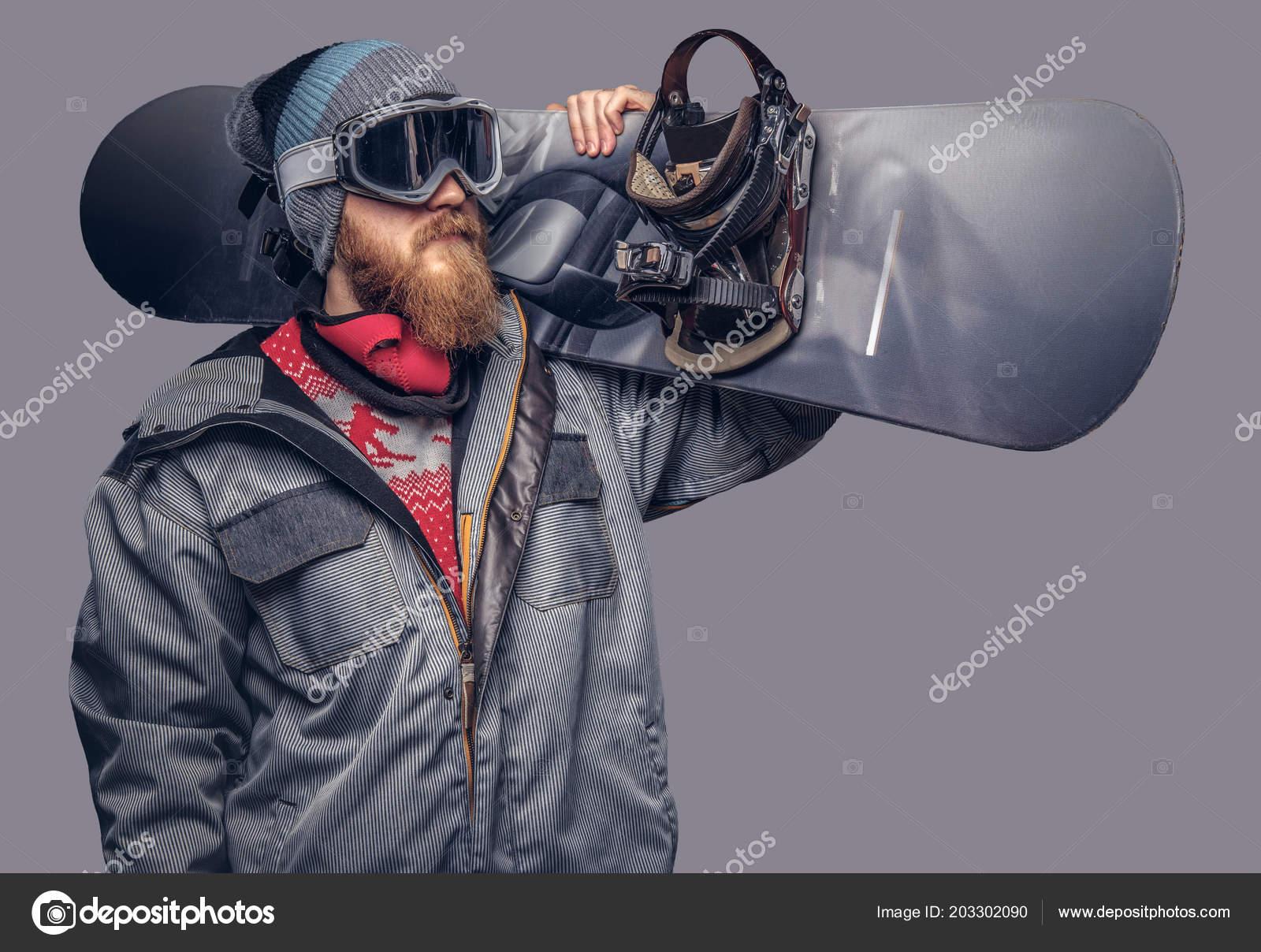 f96117c8d1df Портрет Сноубордист Одетые Полное Защитное Снаряжение Экстримального  Сноубординга ...