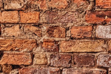 Old red brick wall texture background. Old brick wall texture.