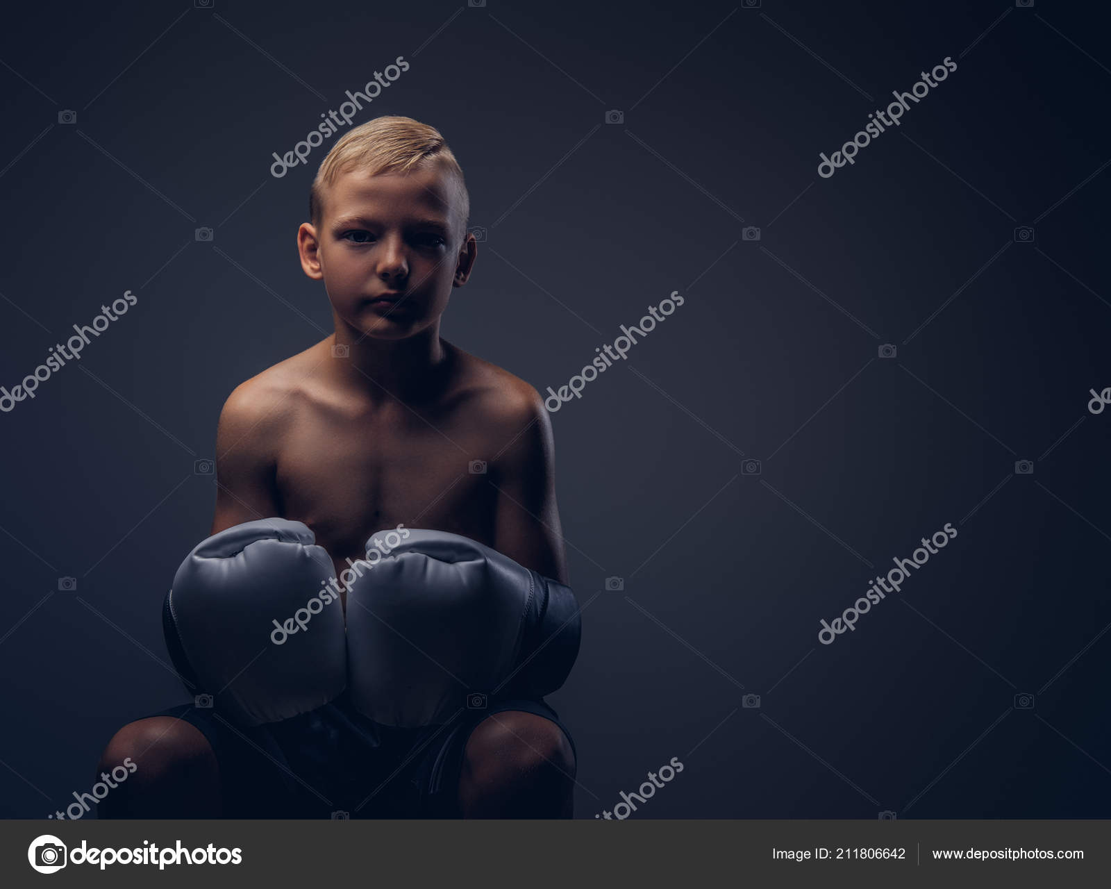 Shirtless teen male celebrities boxing lessons