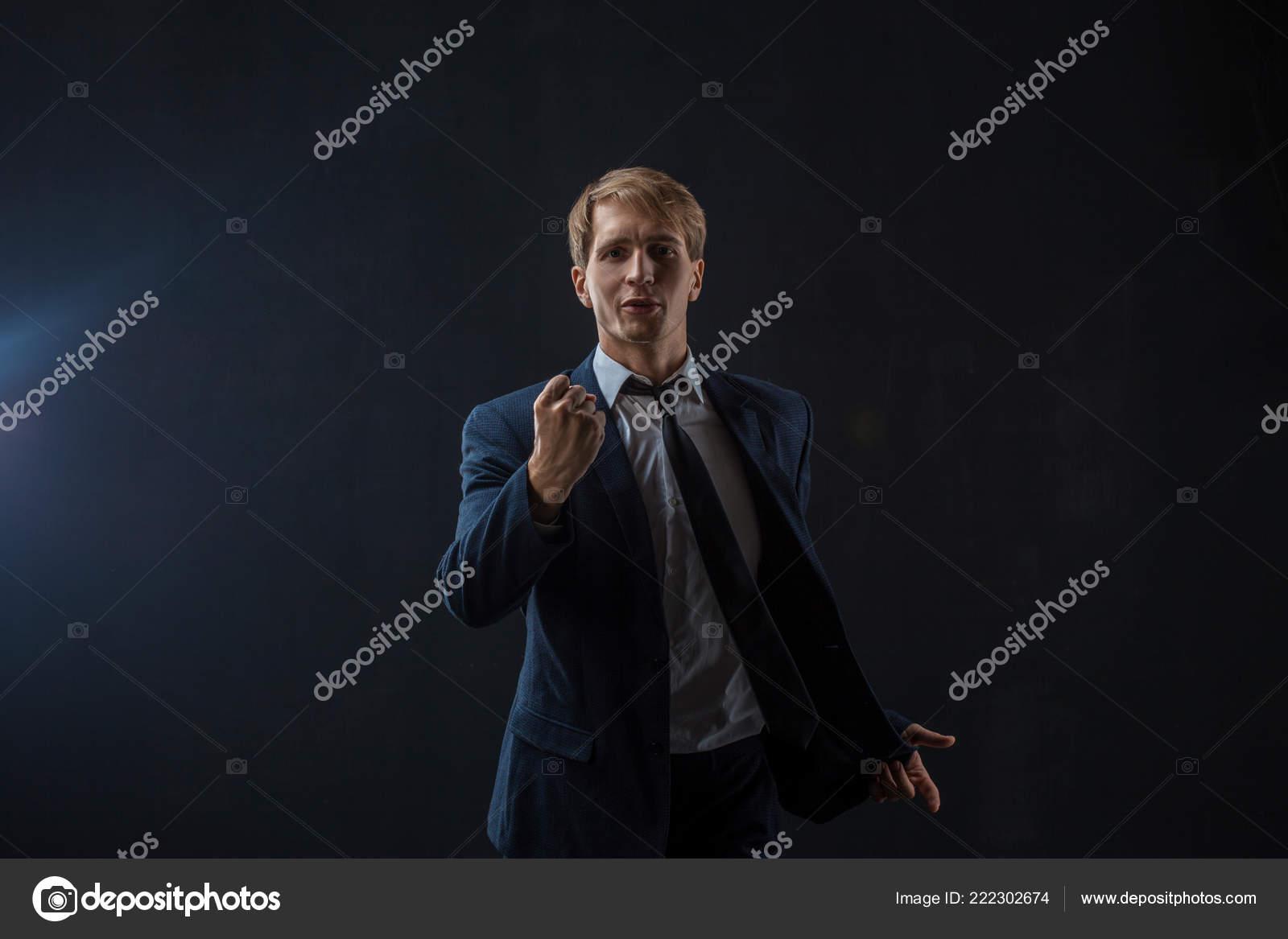 Un Ambicioso Hombre De Negocios Te Habla Orador