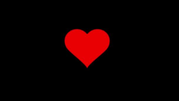 Animaci červené srdce bije