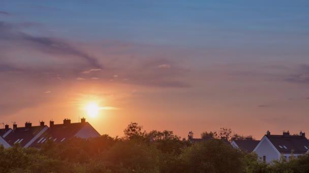 4K Time Lapse summer sunset