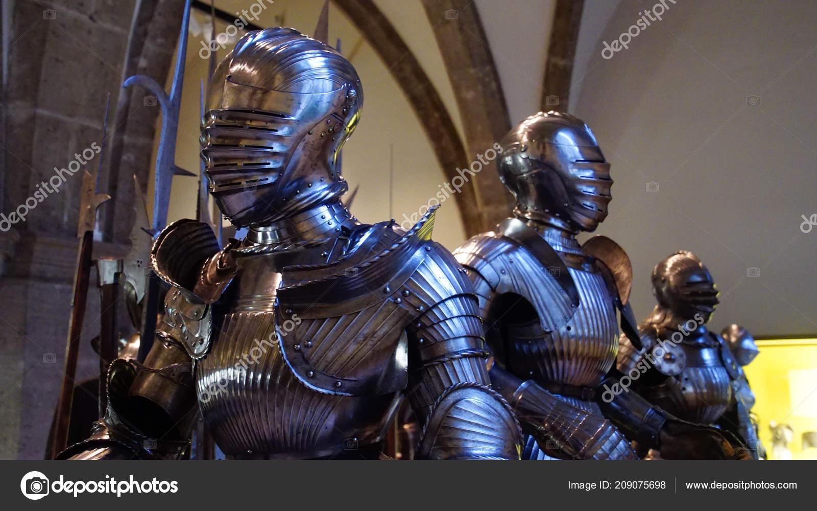munich jul 2018 medieval knight suit armor bavarian national museum