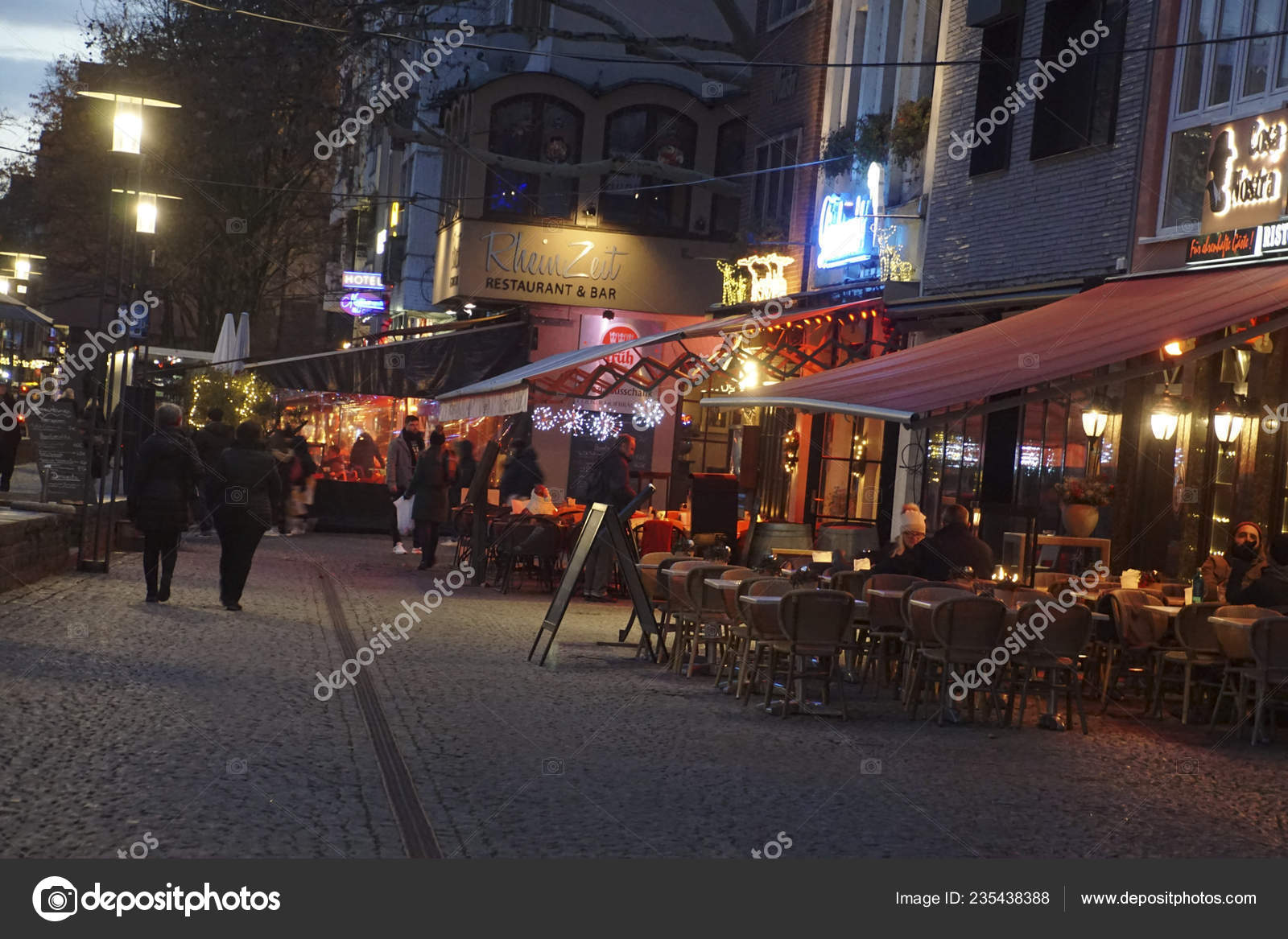 Cologne Germany Dec 2018 Evening Lights