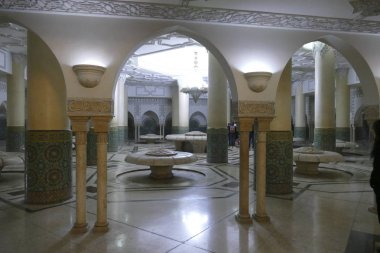 Ablutions area of the Hassan II mosque