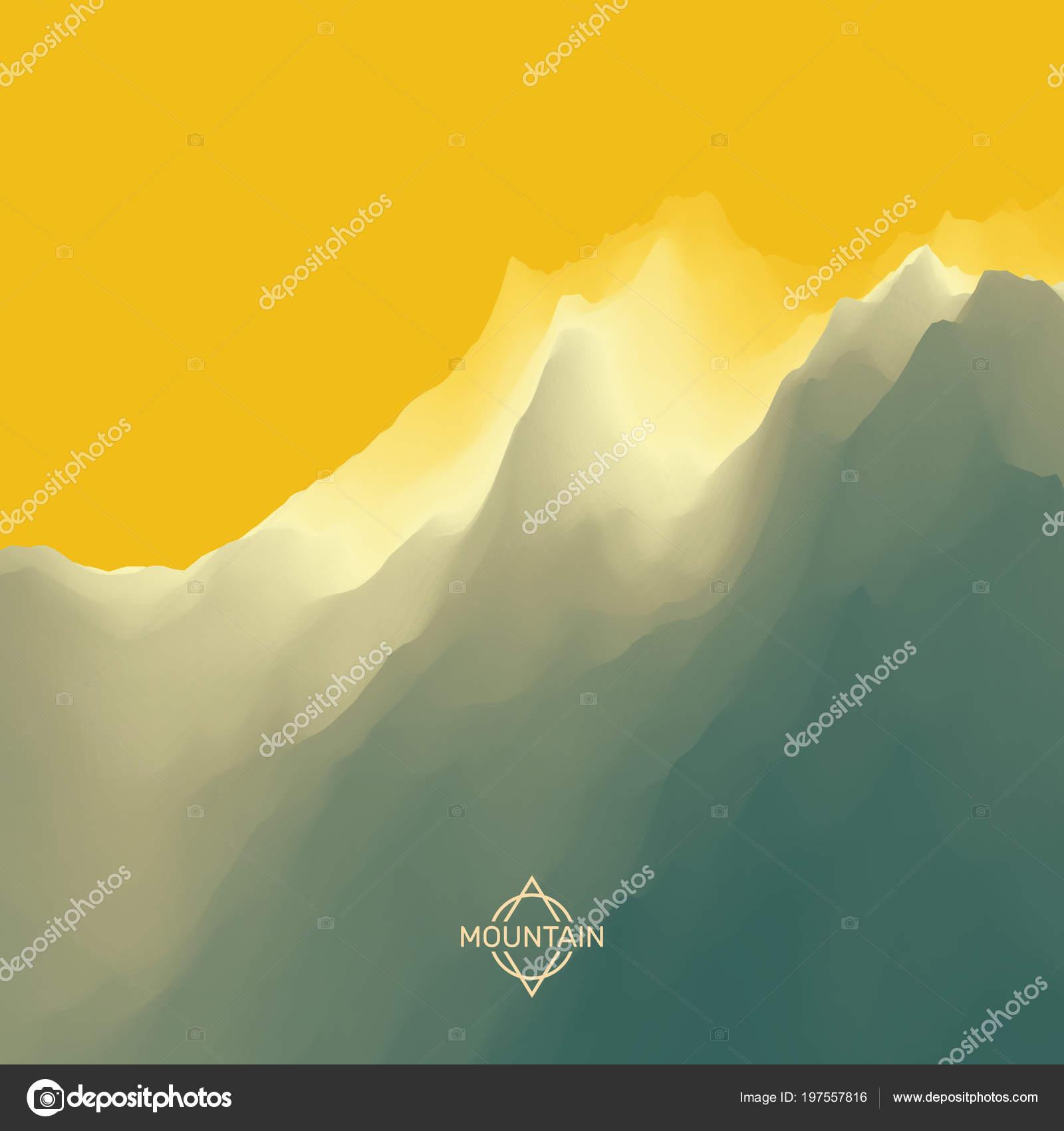 Paisaje Montaña Resumen Antecedentes Ilustración Vector — Archivo ...