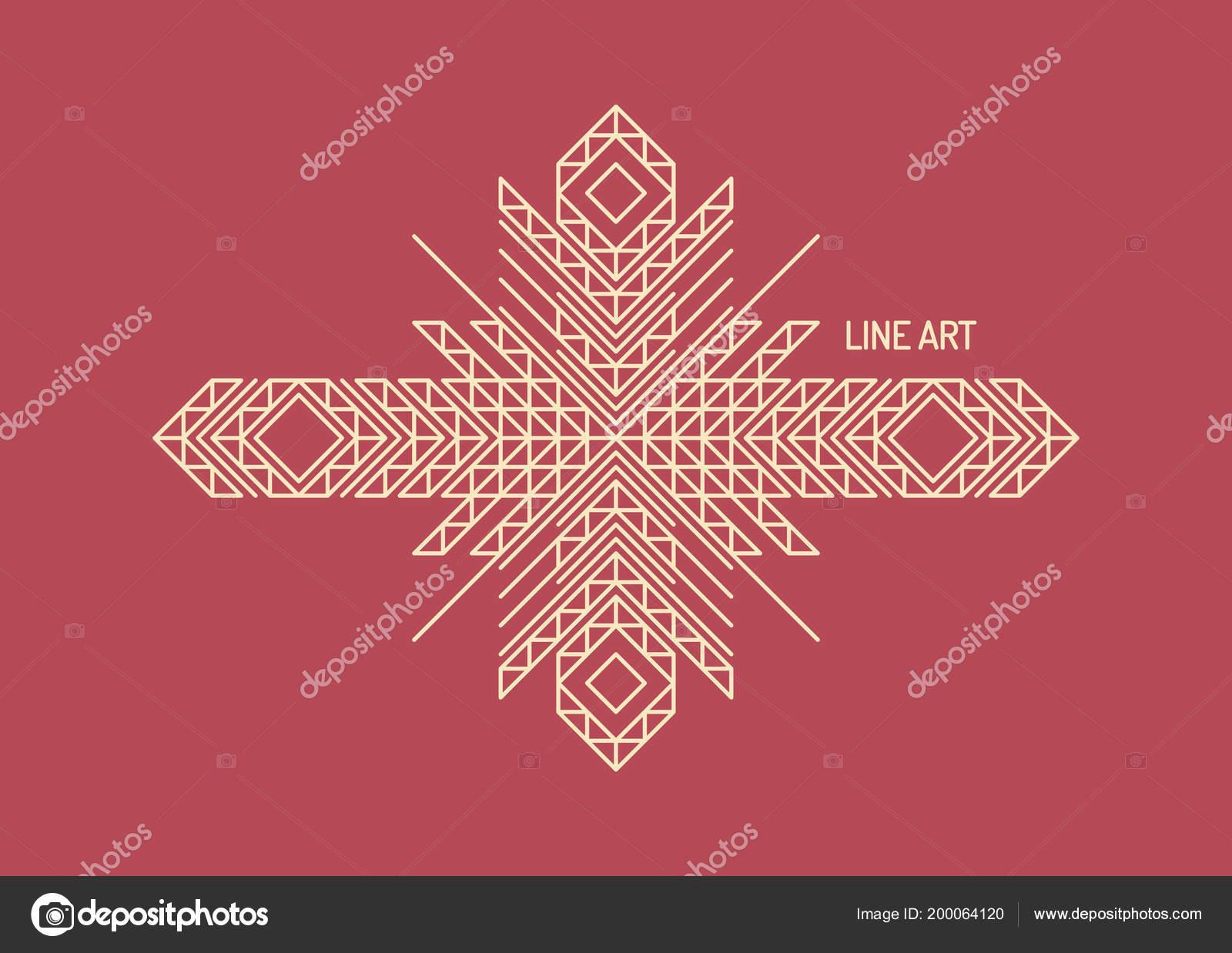 Line Art Design Invitation Poster Badge Monogram Elegant Luxury ...