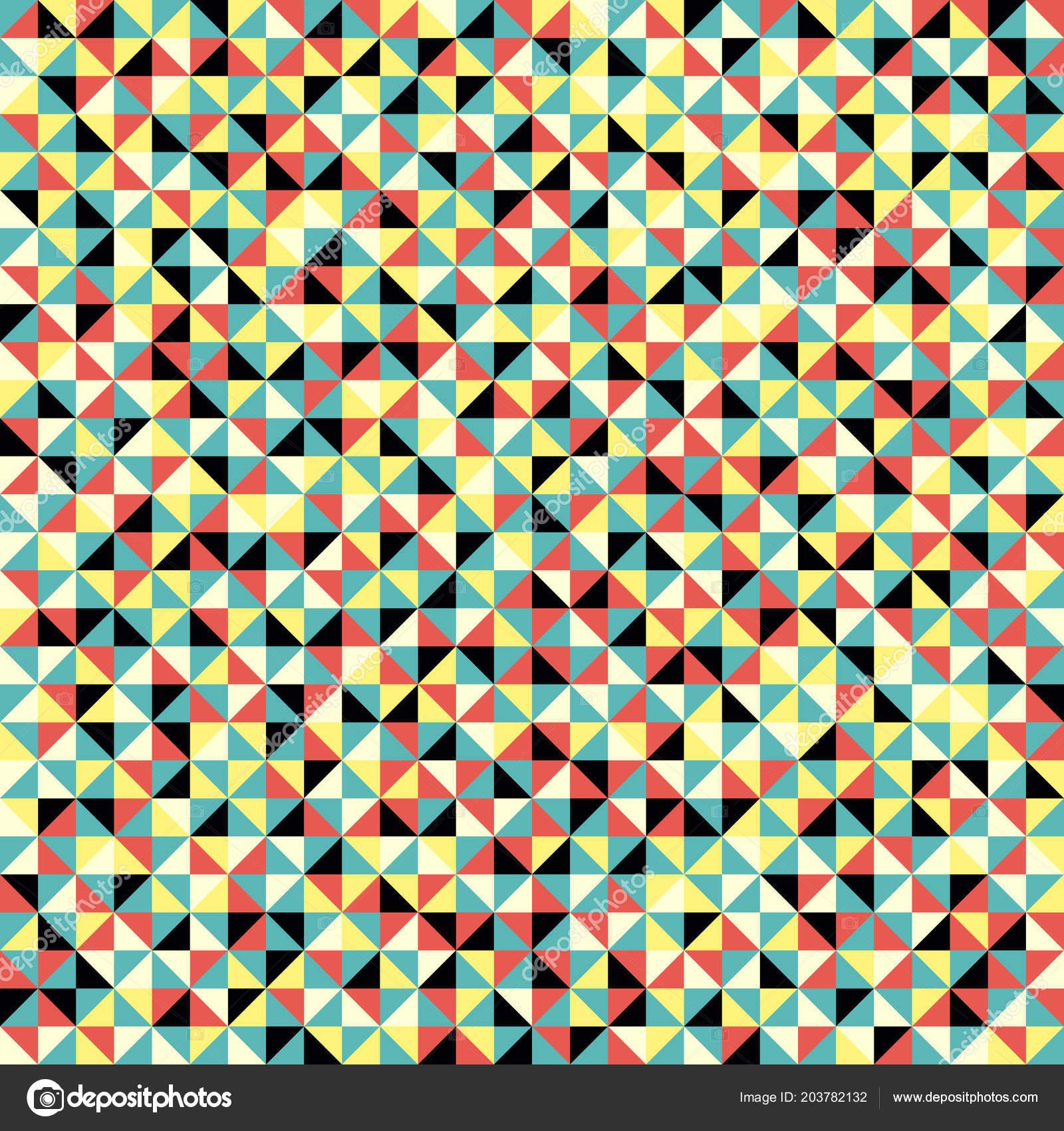 Modele Sans Couture Formes Geometriques Decor Mosaique Coloree Fond
