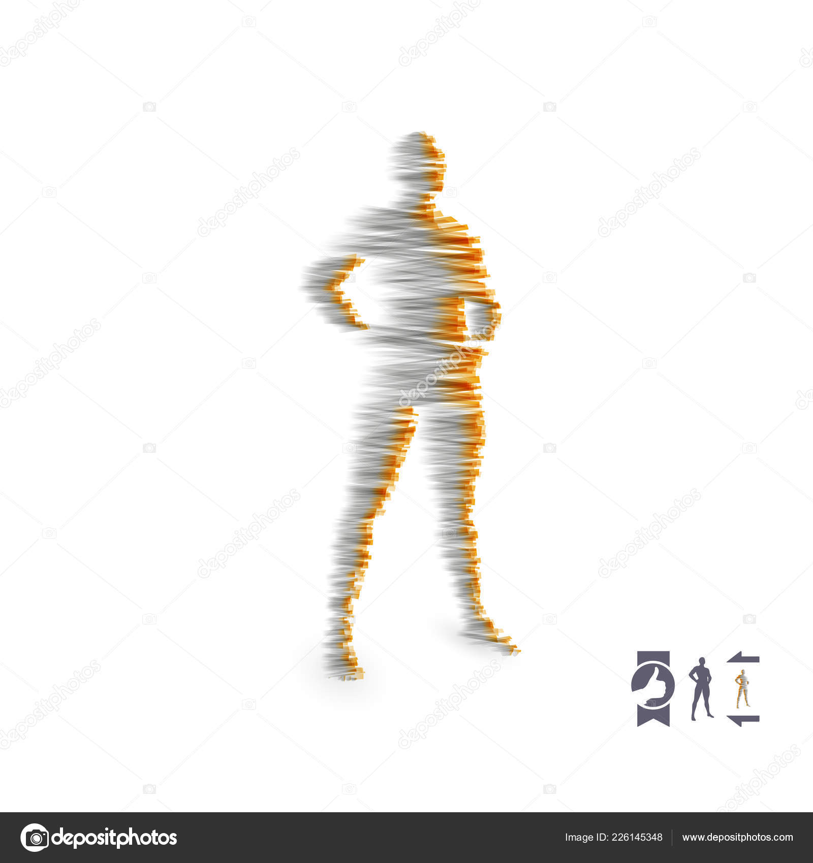 Standing Man Human Body Model Design Element Man Stands His Stock