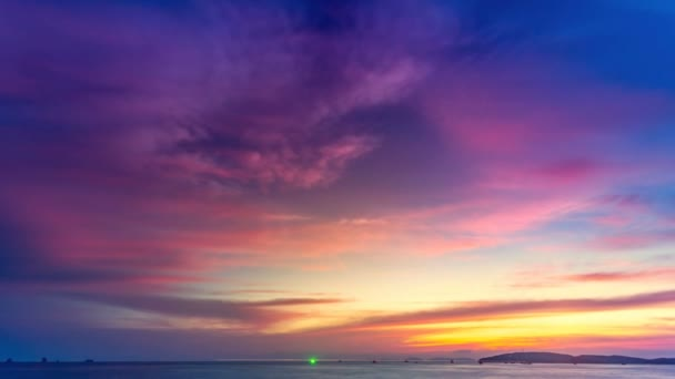 Beautiful colorful purple pink sunset over ocean vdeo de stock beautiful colorful purple pink sunset over ocean vdeo de stock junglespirit Choice Image