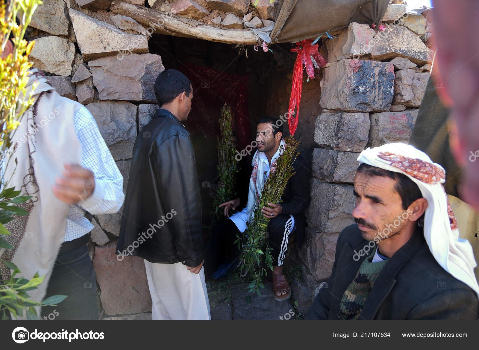 Sanaa Yemen March 2010 Unidentified Dealers Khat Catha