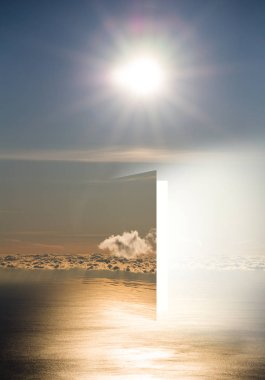 Door to heaven with sea and sun - between death and life
