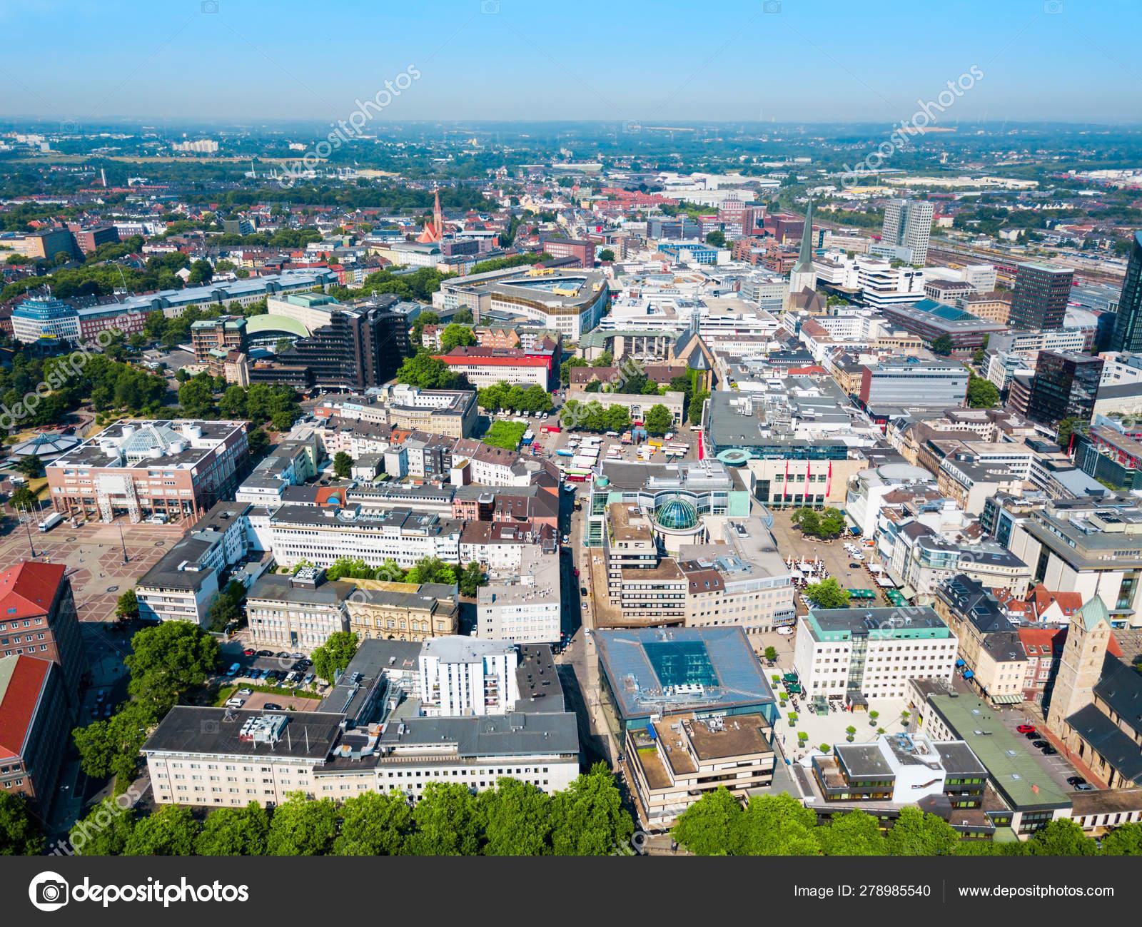 Dortmund city centre aerial view — Stock Photo © saiko3p #278985540