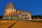 Colosseum in Rome, Italy. Ancient Roman Colosseum is one of the main tourist attractions in Europe.