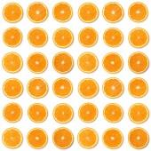 Varrat nélküli mintát narancssárga gyümölcs szelet elszigetelt fehér background.
