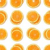 Bezespání vzorek oranžových řezů. Oranžové řezy izolované