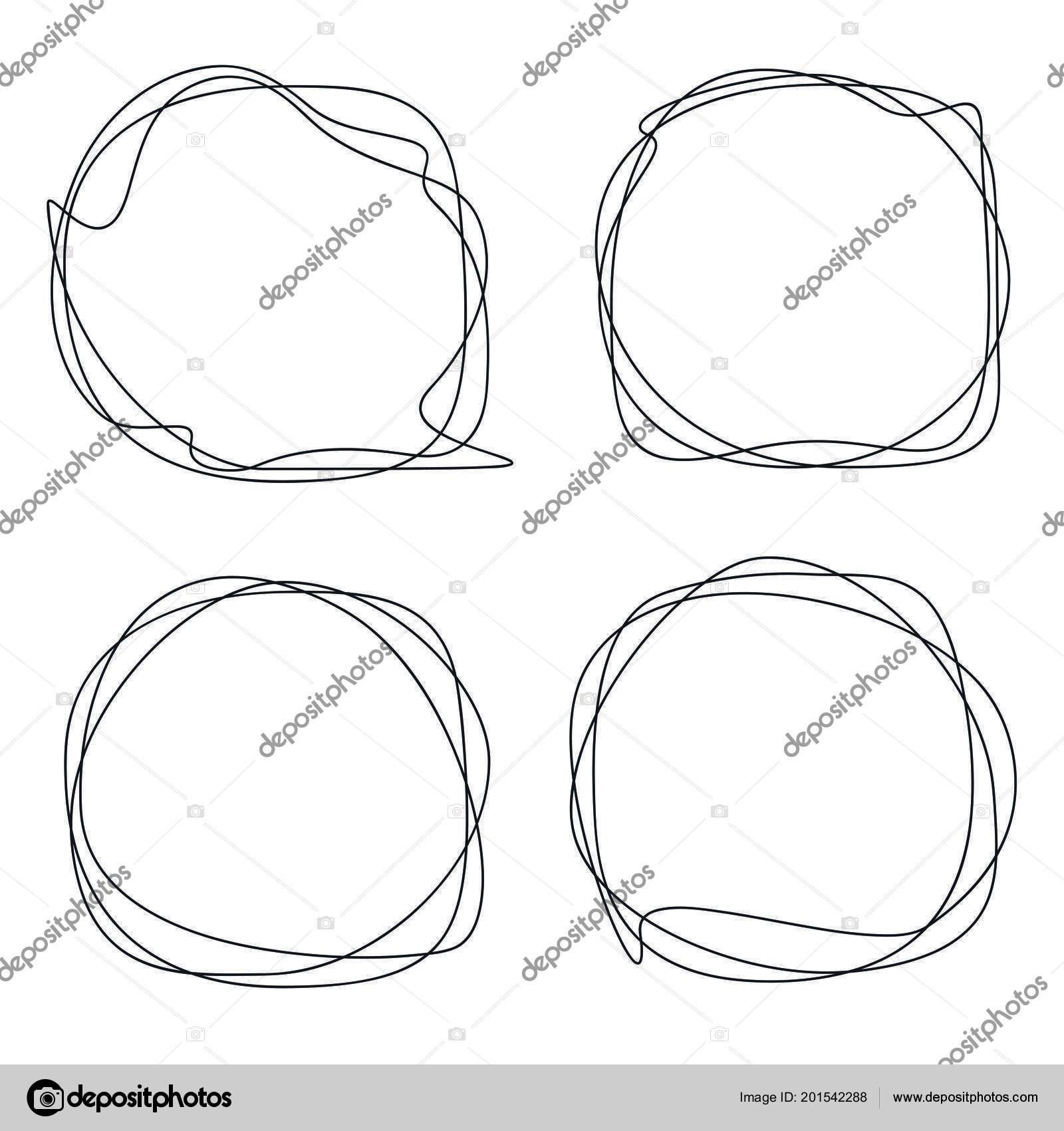 speech bubble collection abstract frames stock vector prezent