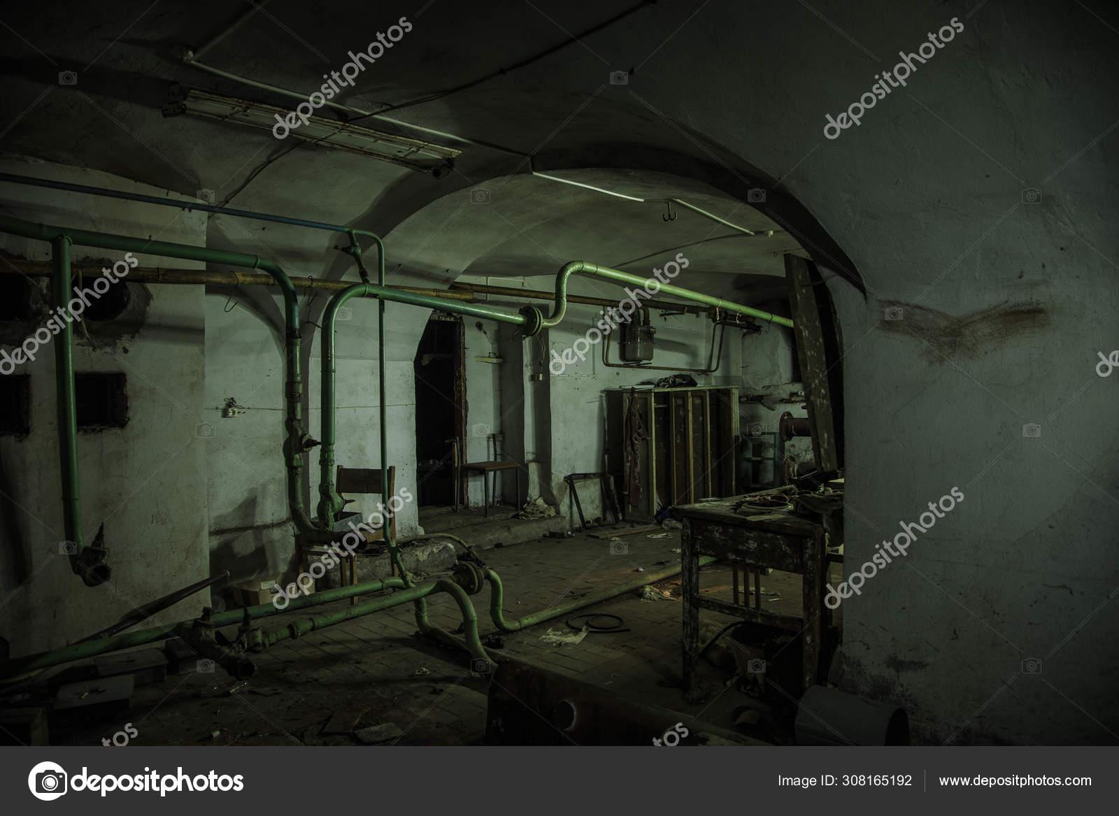 Old Creepy Basement Of Abandoned Asylum Old Rotten Boiler Heat Stock Photo C Mulderphoto 308165192