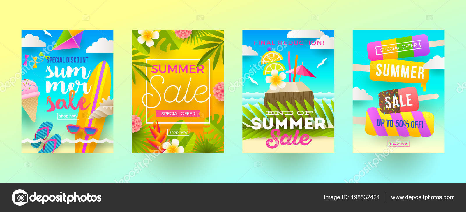 Travel Promotion Banners Wave Banners