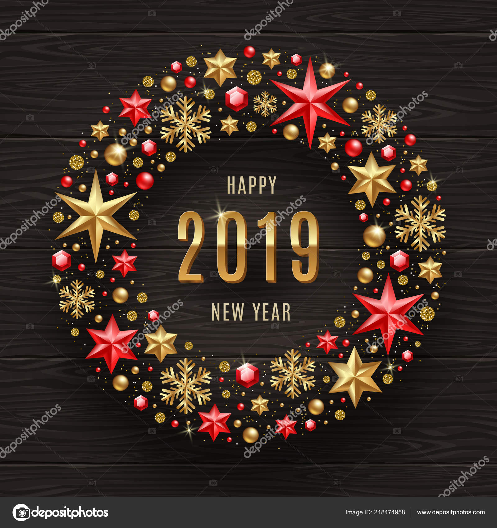 2019 New Year Greeting Illustration New Year Greeting Frame Which