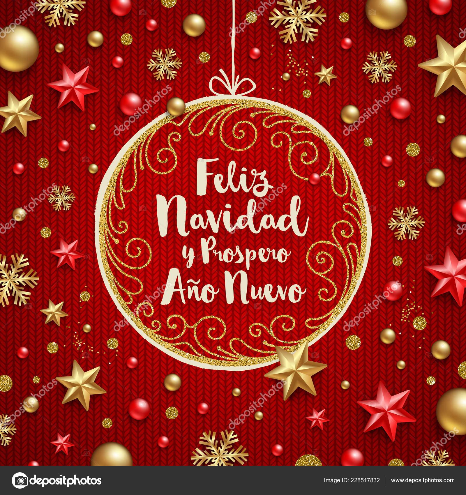 Christmas Wishes In Spanish.Feliz Navidad Christmas Greetings Spanish Holiday Greeting