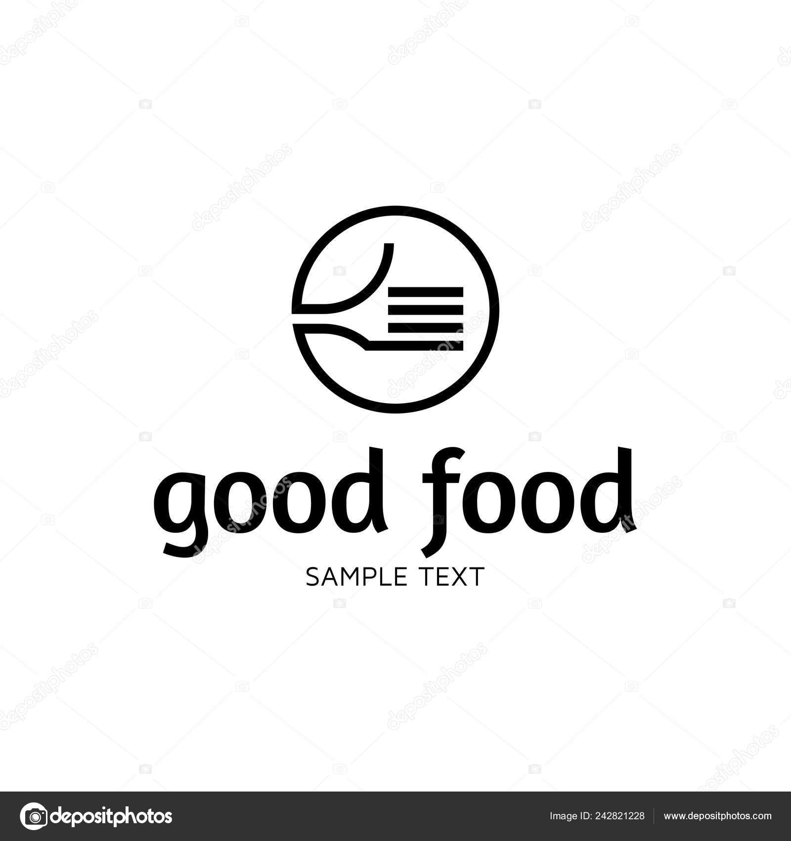 Good Food Logo Design Template Vector Hand Illustration Background Graphic Stock Vector C Sokolfly 242821228