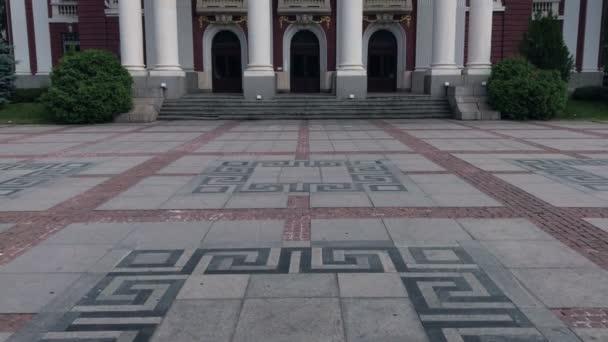 Ivan Vazov national theater is one of the main landmarks of Sofia, Bulgaria