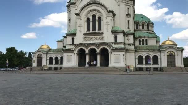 SOFIA, BULGARIA - MAY 28, 2018: The St. Alexander Nevsky cathedral is one of the largest Eastern Orthodox cathedrals in the world, located in Sofia, Bulgaria