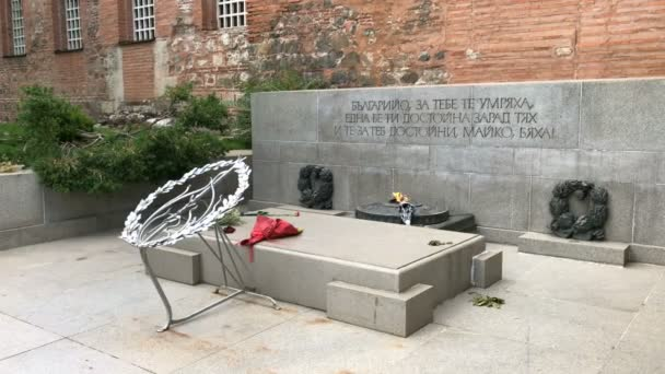 SOFIA, BULGARIA - MAY 28, 2018: Monument of Unknown Soldier, located just next to the Church of St Sophia in Sofia, Bulgaria