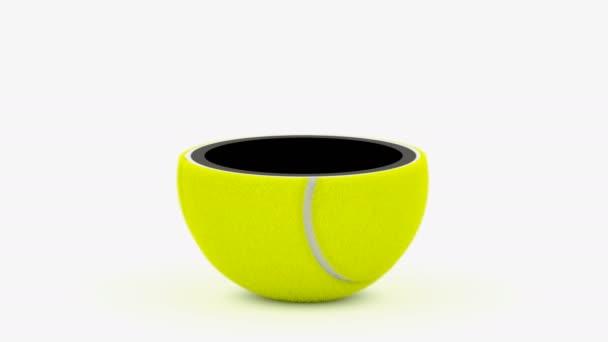 teniszlabda, fehér háttér