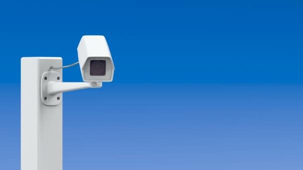 Surveillance camera on the pillar