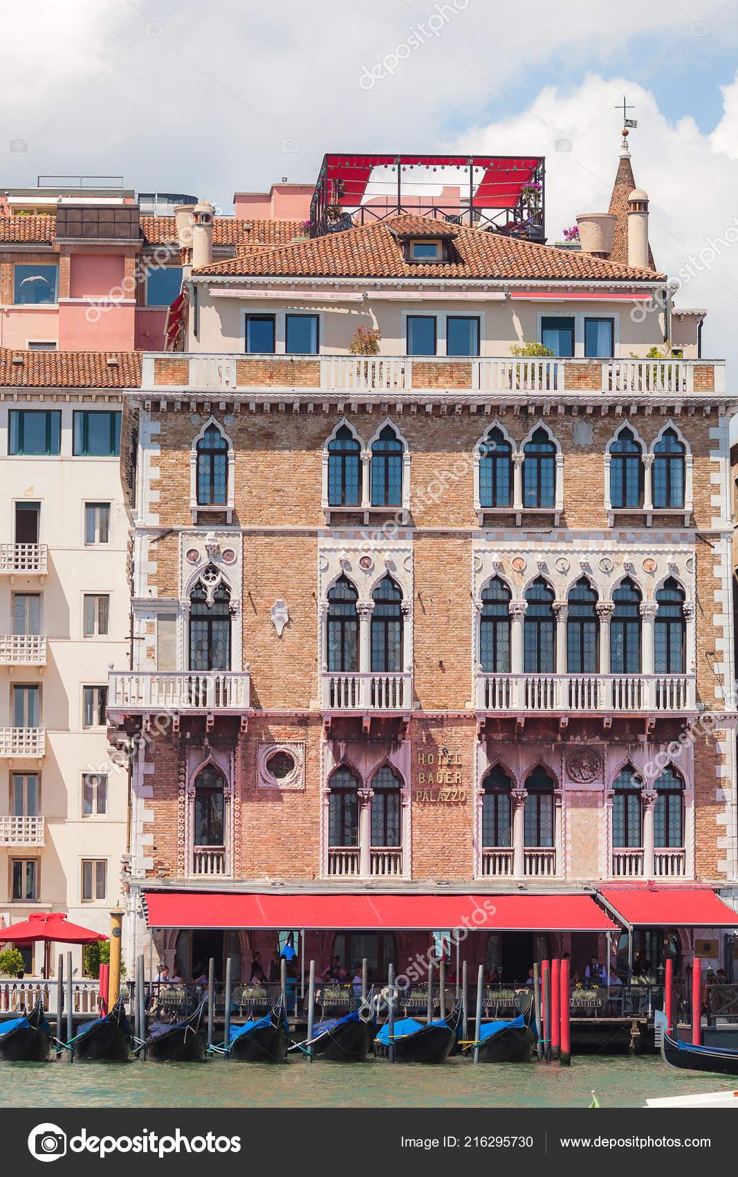 Venedig Italien 15 Juni 2016 Hotel Bauer Palazzo Am Canal