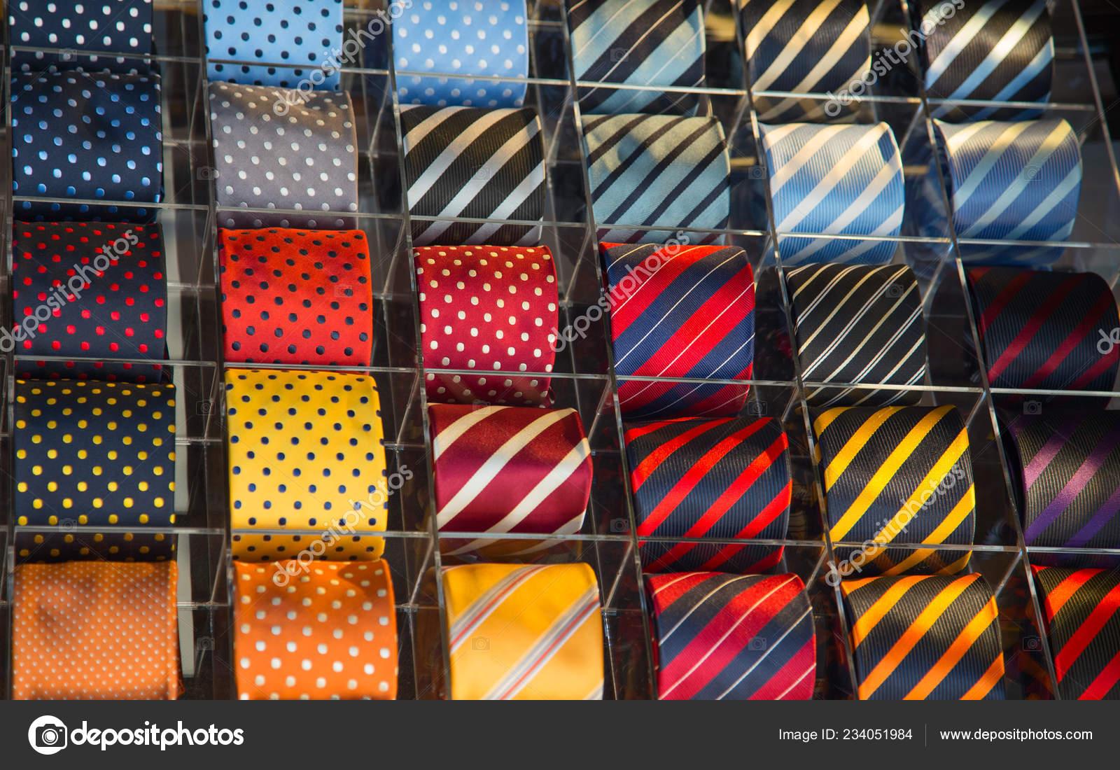 3c59911f89db Colorful Tie Collection Men Shop — Stock Photo © swisshippo #234051984