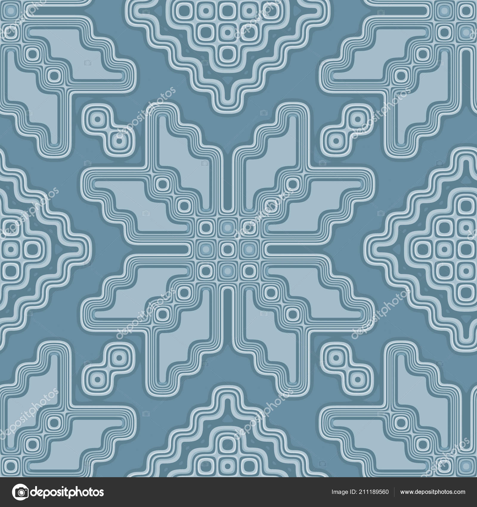 Seamless Pattern Tile Moroccan Style In Soft Pastel Blue — Stock ...