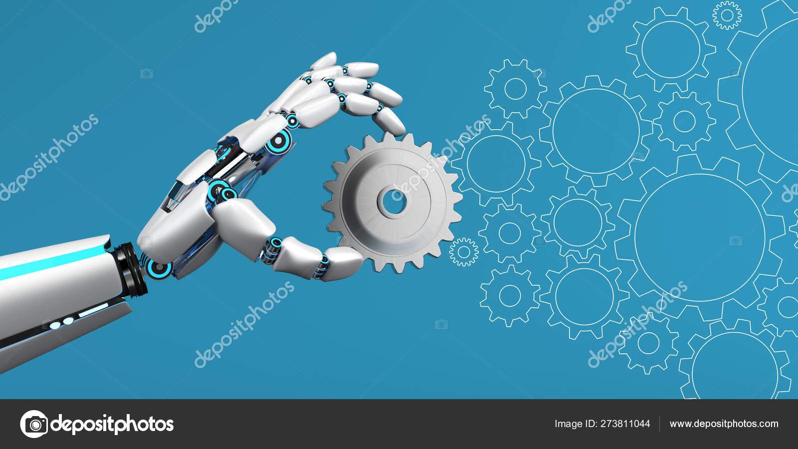 Robot Hand Gear Wheel — Stock Photo © limbi007 #273811044