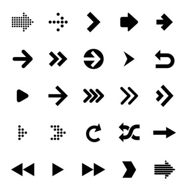 Flat design arrow icon set. Vector design elements for infographics, mobile app, website and presentation. icon