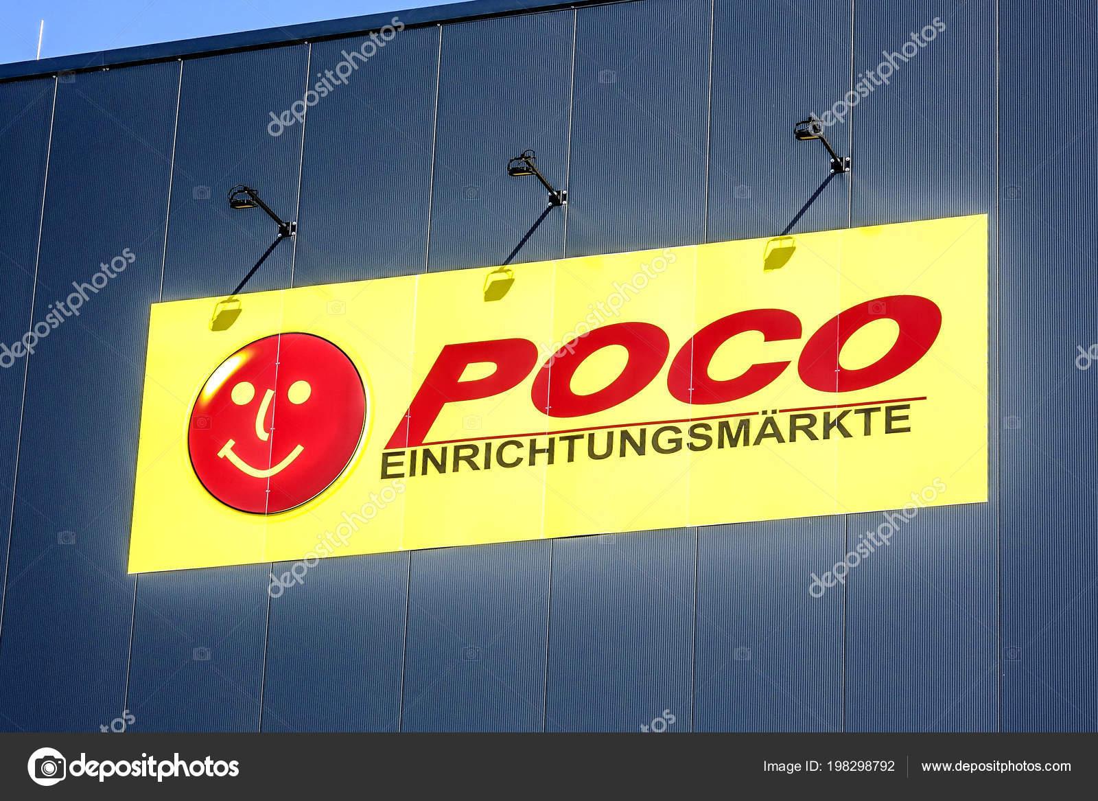 Wetzlar Deutschland März 2018 Poco Logo Auf Der Fassade Poco