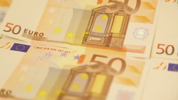 Detailní zpracování bankovek kolem eurobankovek