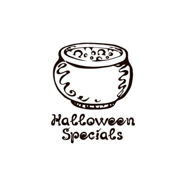 Halloween Hand Drawn Boiler with Phrase