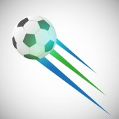 Flying Soccer Ball Icon