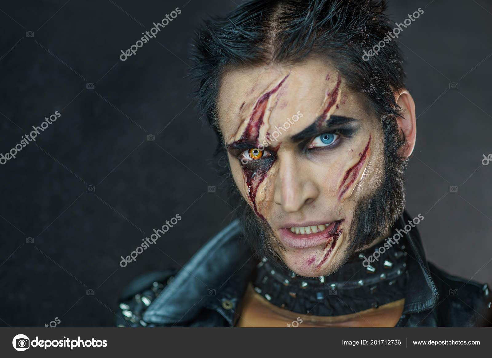 Loup Garou Maquillage Professionnel Wolverine Avec Des Cicatrices